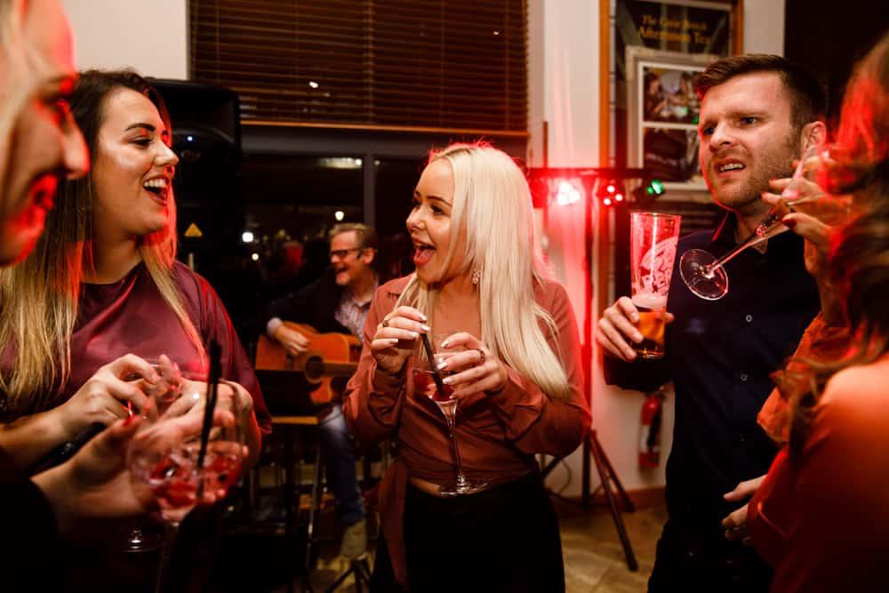 Guests having fun at a party