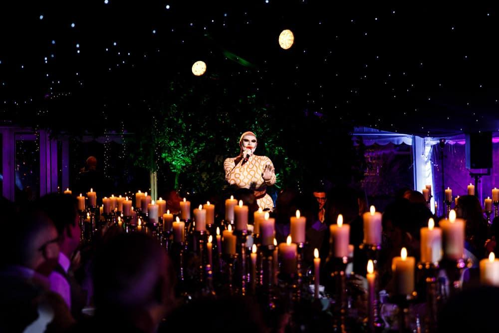 Danny Beard at a Wedding Reception