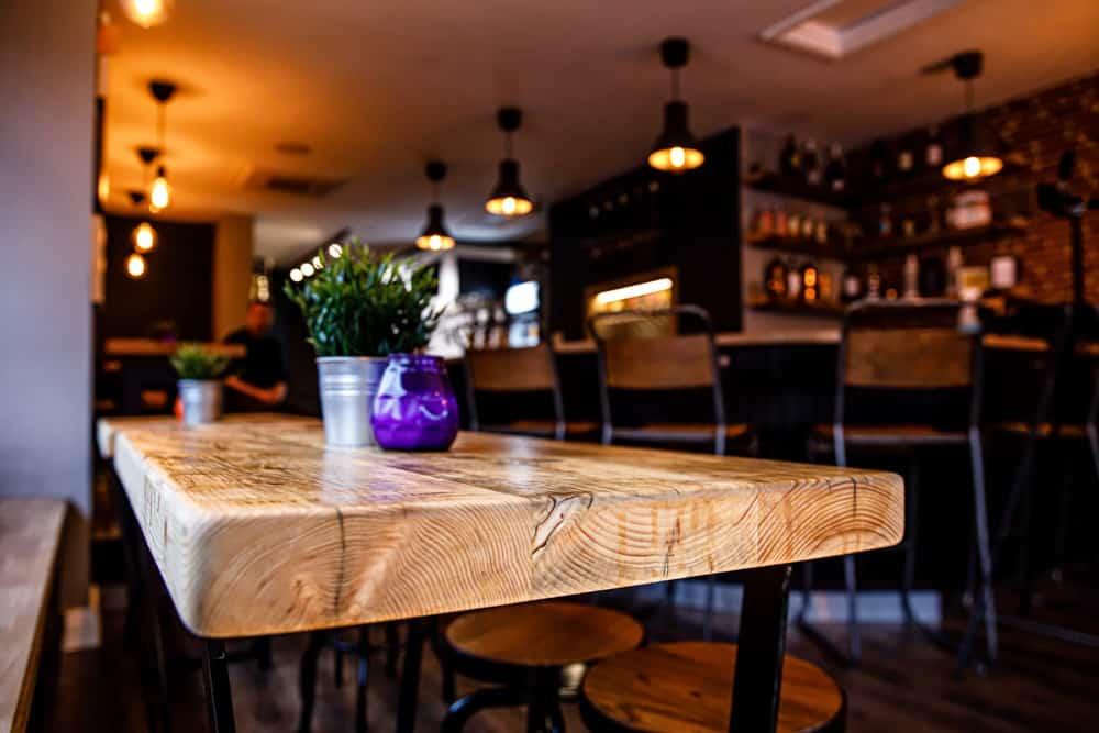 Wood Bar Tables