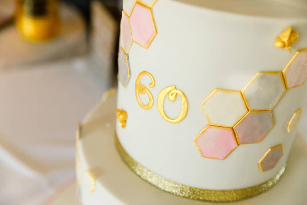 60th birthday cake decorations
