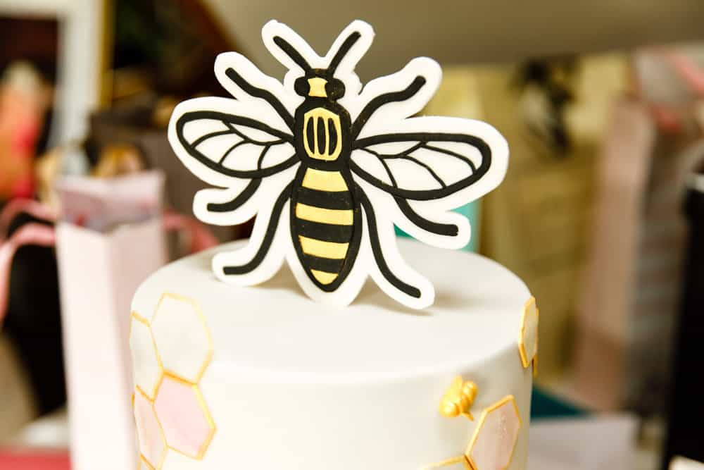 manchester bee cake topper