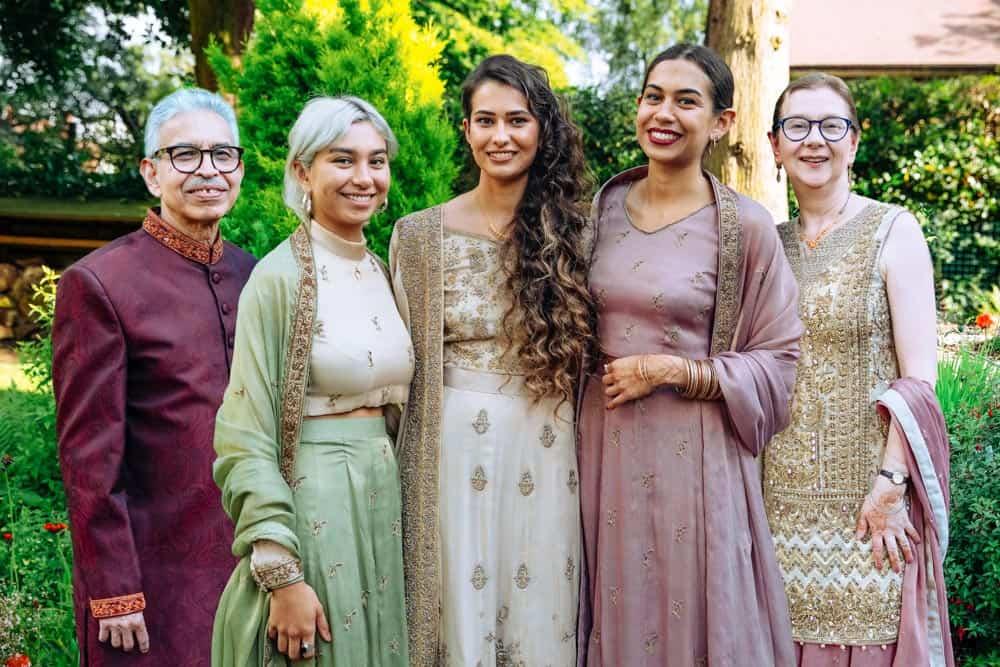mehndi celebration family portrait