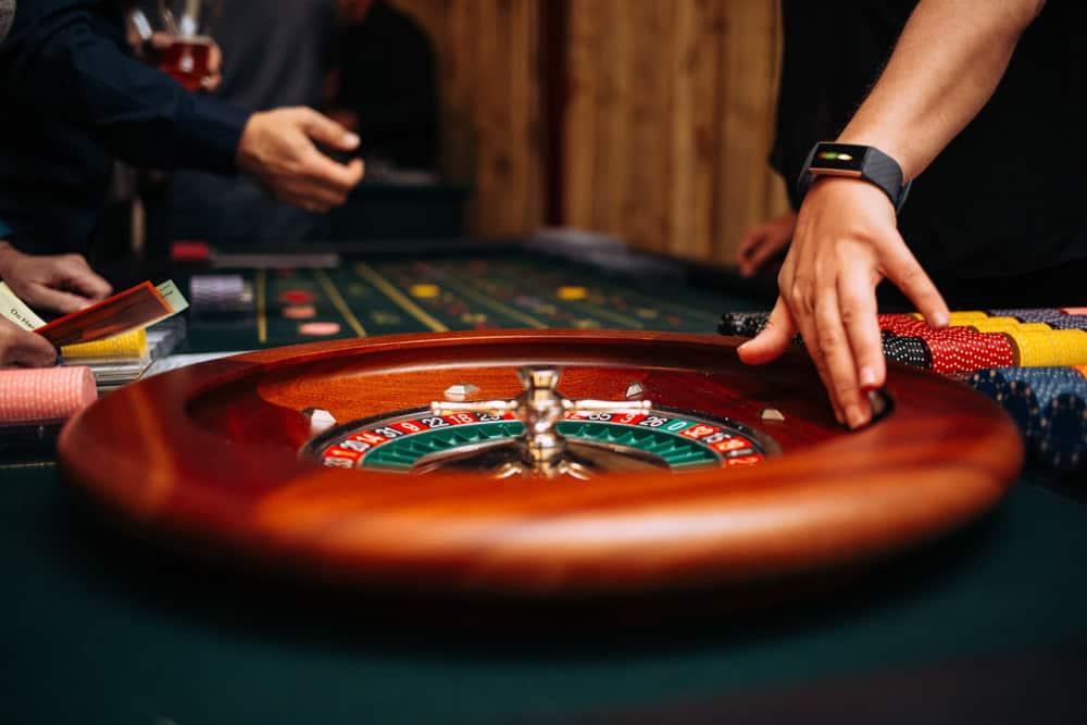 a casino table