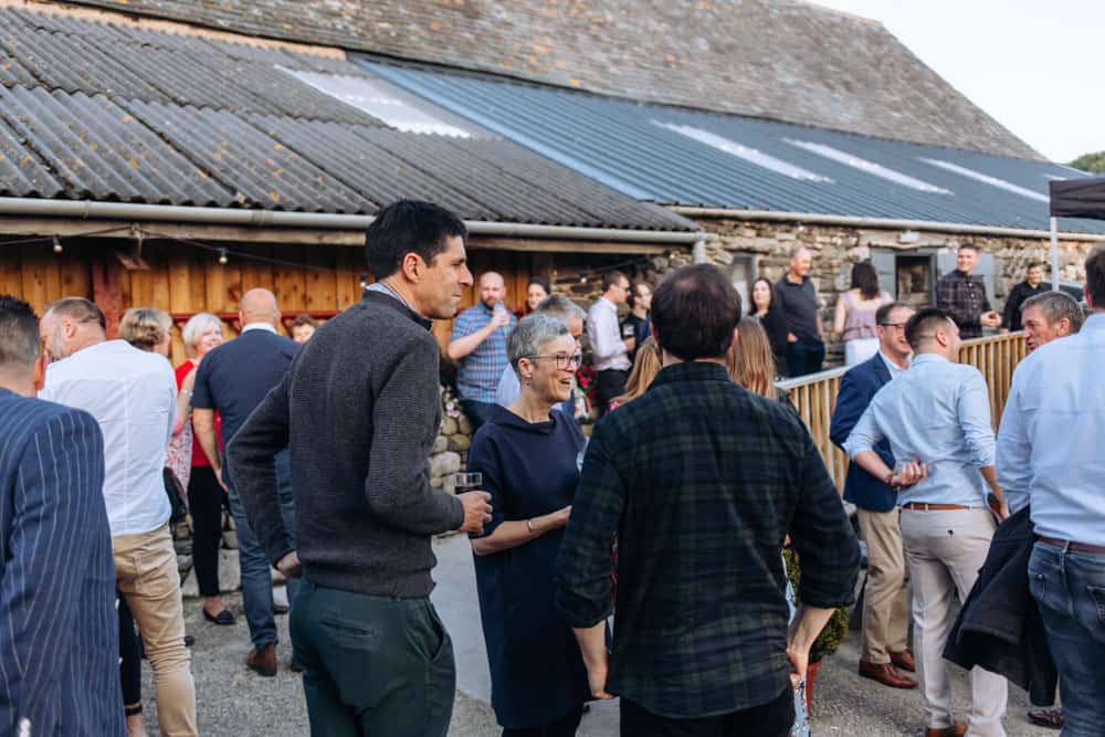 the outside space at park house barn