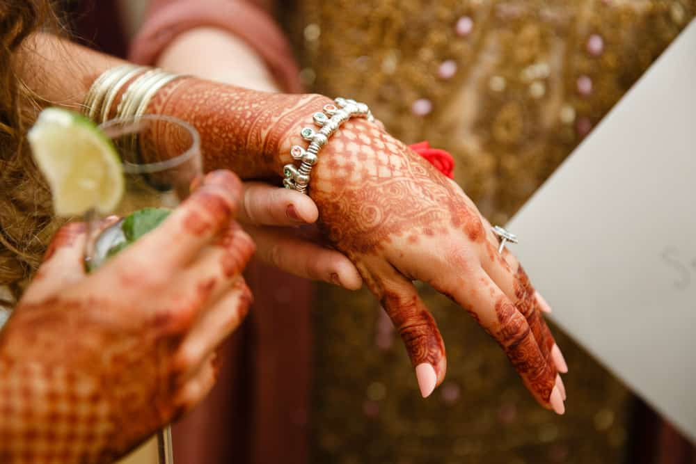 mehndi celebration painted hands
