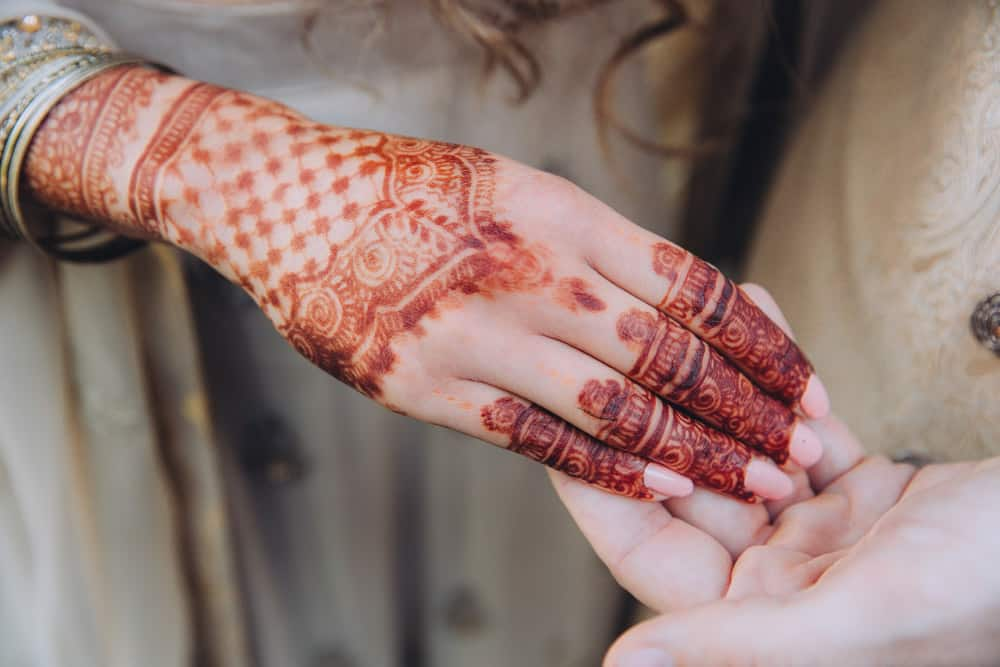 mehndi celebration painted hands