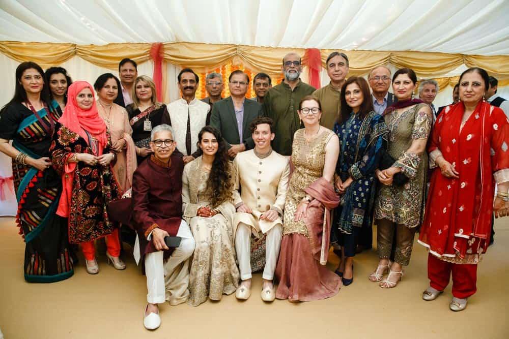 full family group photo mehndi celebration